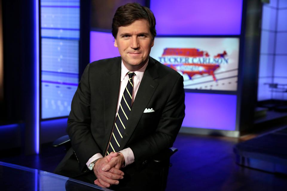 """Fox News host Tucker Carlson is confused as to why the Anti-Defamation League is weighing on his comments regarding """"The Great Replacement"""" theory."""