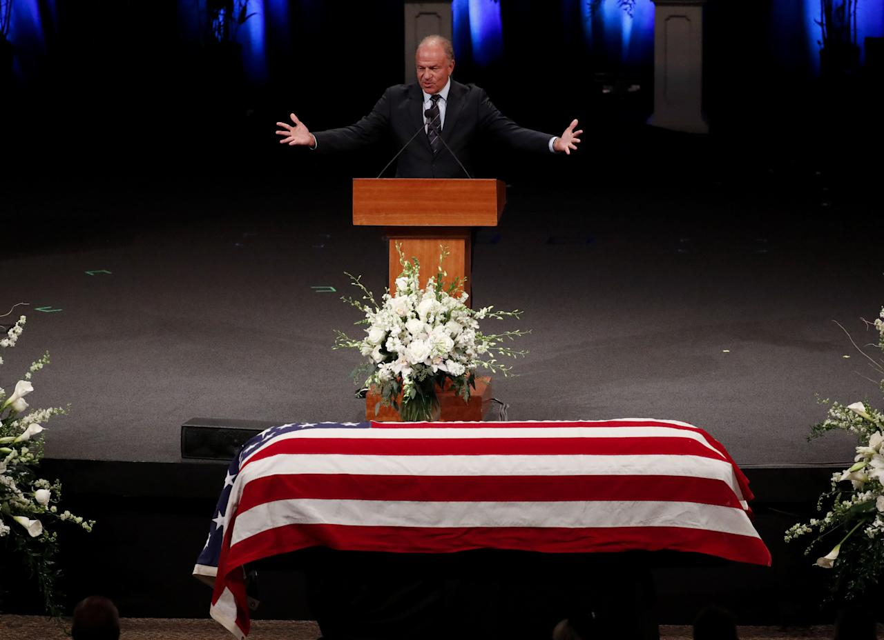 The Funeral for John McCain Was a Politically Charged Farewell