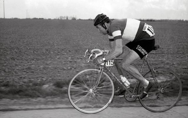 Felice Gimondi seen here competing in the Paris-Roubaix race in 1969 - AFP