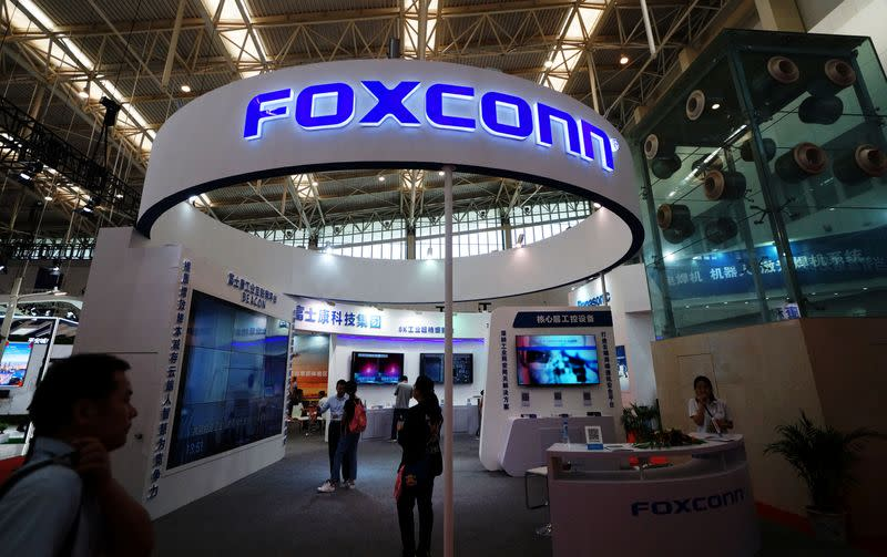 Shares of Foxconn rise more than 3%