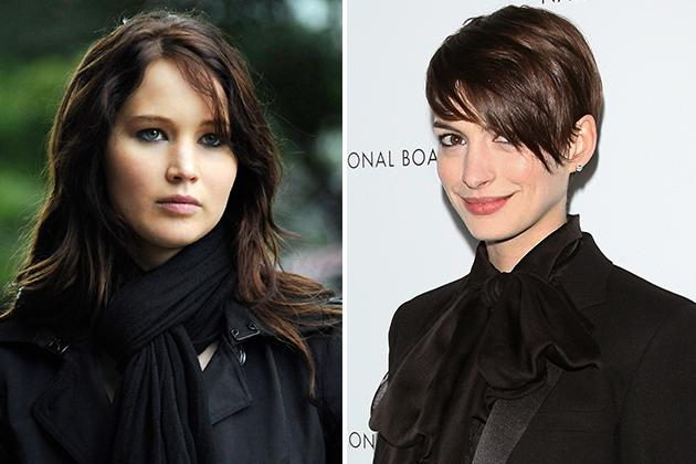 "Anne Hathaway was originally going to play the role Jennifer Lawrence picked up in ""Silver Linings Playbook."" Hathaway had to drop out because the filming conflicted with her schedule for ""The Dark Knight Rises."" Lawrence went on to land a Golden Globe nod."
