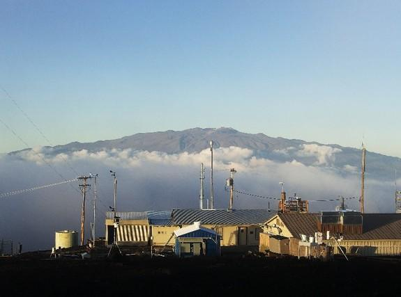 Mauna Loa, the Hawaiian Volcano from which researchers have been monitoring atmospheric carbon dioxide for decades.
