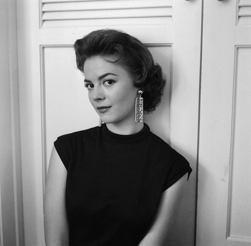 Wood poses for a photo in 1955.