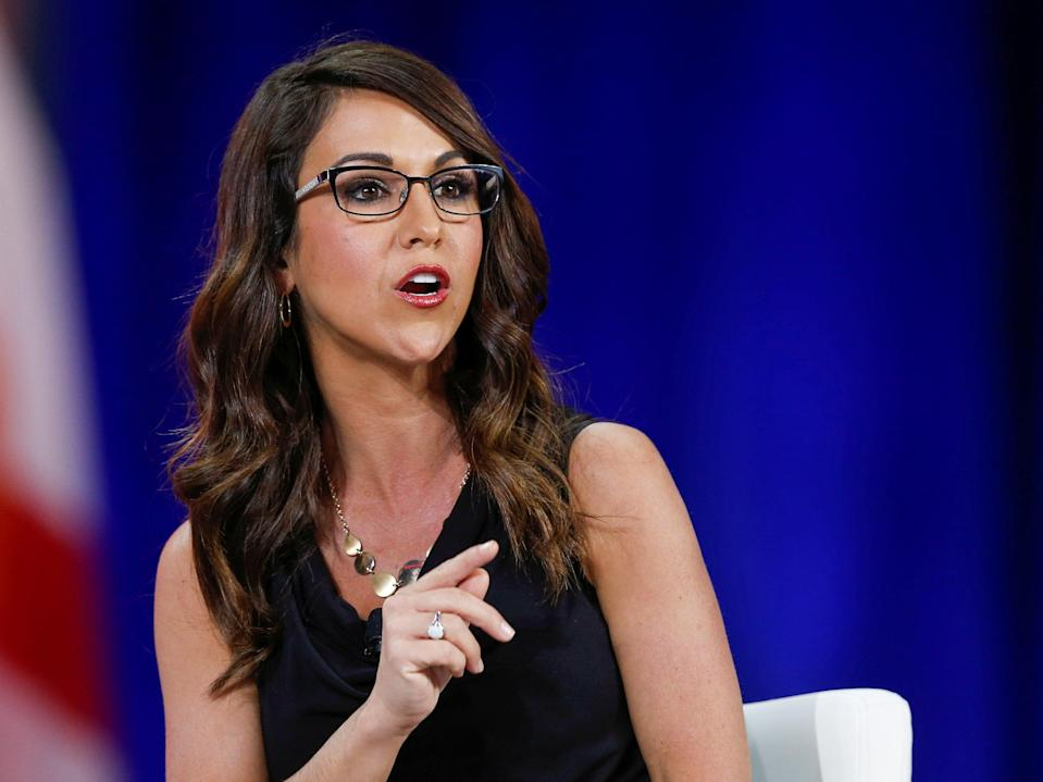 <p>US Rep Lauren Boebert of Colorado speaks at the Conservative Political Action Conference (CPAC) in Orlando, Florida</p> (REUTERS)