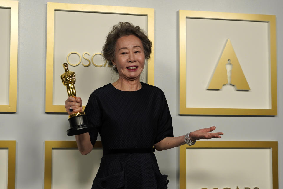 Yuh-Jung Youn, winner of the award for best actress in a supporting role for