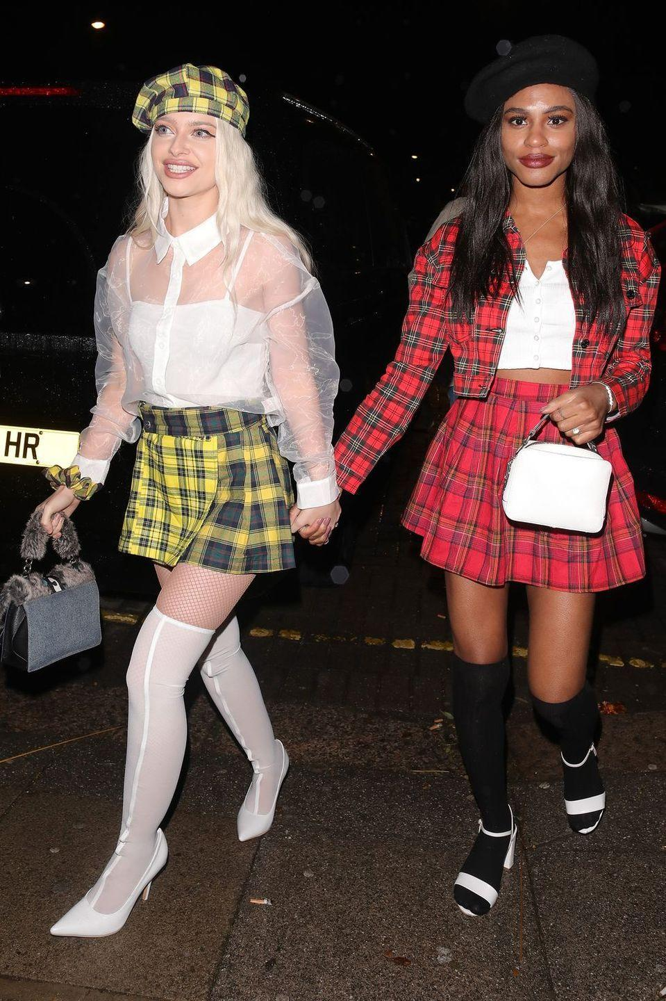 """<p>Whether you take on Cher Horowitz solo or grab a friend to play Dionne Davenport, taking on characters from <em>Clueless </em>involves a lot of plaid and a lot of attitude. </p><p><a class=""""link rapid-noclick-resp"""" href=""""https://www.amazon.com/LYANER-Womens-Tartan-Bodycon-Yellow/dp/B08FSM69DQ?tag=syn-yahoo-20&ascsubtag=%5Bartid%7C10070.g.2683%5Bsrc%7Cyahoo-us"""" rel=""""nofollow noopener"""" target=""""_blank"""" data-ylk=""""slk:SHOP YELLOW PLAID SKIRT"""">SHOP YELLOW PLAID SKIRT</a></p><p><a class=""""link rapid-noclick-resp"""" href=""""https://www.amazon.com/SOLY-HUX-Womens-Pleated-Skater/dp/B08BLFF88Z?tag=syn-yahoo-20&ascsubtag=%5Bartid%7C10070.g.2683%5Bsrc%7Cyahoo-us"""" rel=""""nofollow noopener"""" target=""""_blank"""" data-ylk=""""slk:SHOP RED PLAID SKIRT"""">SHOP RED PLAID SKIRT</a></p>"""
