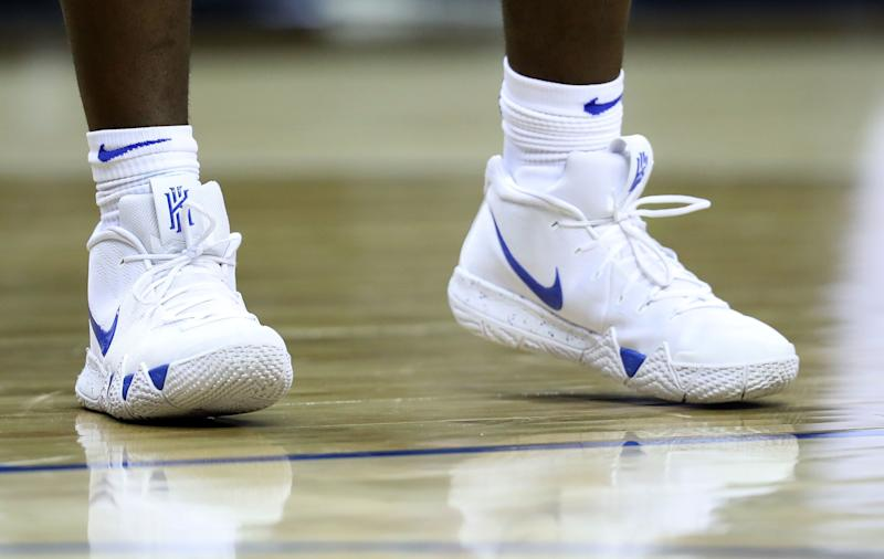 df7a6760a514 A detailed view of Zion Williamson s shoes against the Syracuse Orange  during their game on Thursday