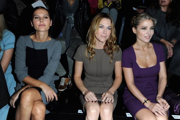 PARIS, FRANCE - OCTOBER 03:  (L-R) Verginie Ledoyen, Marie Josee Croze and Elsa Pataky attend the Elie Saab  Spring/Summer 2013 show as part of Paris Fashion Week at Espace Ephemere Tuileries on October 3, 2012 in Paris, France.  (Photo by Pascal Le Segretain/Getty Images)