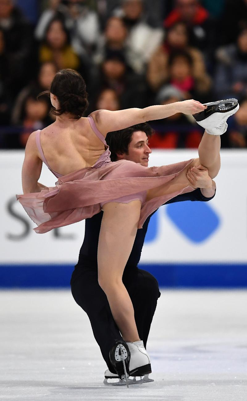 FIGURESKATING - Canadian ice dancers win third world gold