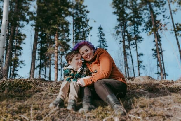 Amy Labonte, a mother in Whitehorse, is calling on the territorial government to cover the cost of a cystic fibrosis drug that she hopes will improve her son's life.  (Brooke Martel Photography - image credit)