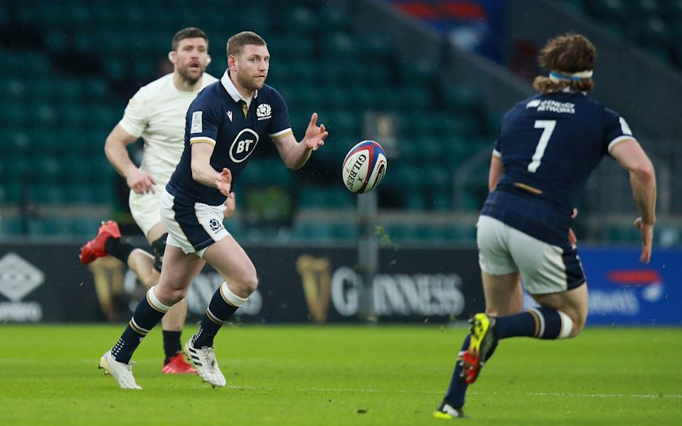 Finn Russell (centre) pulls the strings for Scotland - GETTY IMAGES