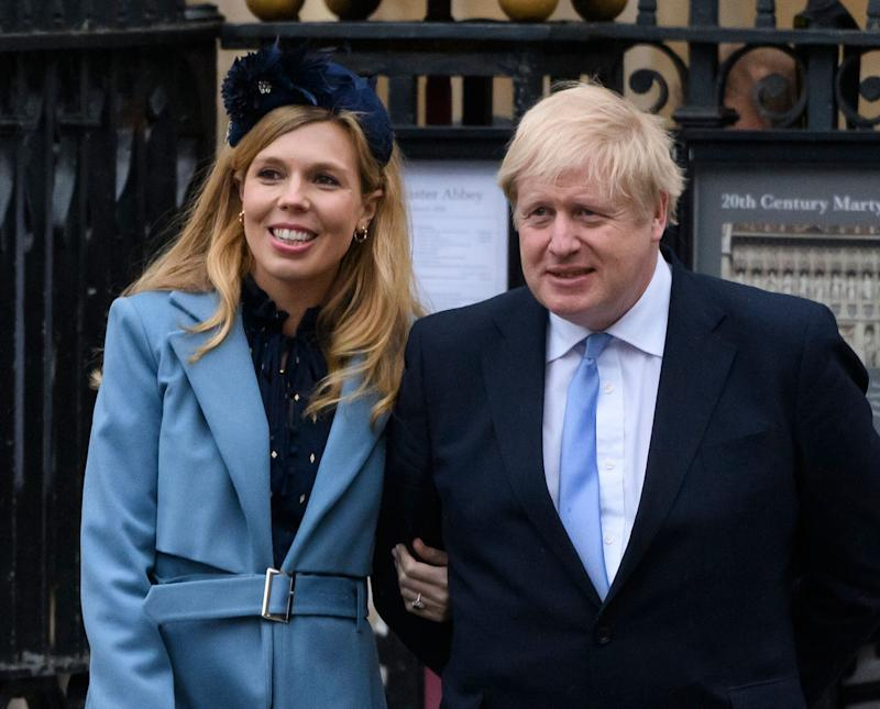 Prime minister Boris Johnson and his fiancee Carrie Symonds leaving the Commonwealth Day Service (Photo: Doug Peters/EMPICS Entertainment)