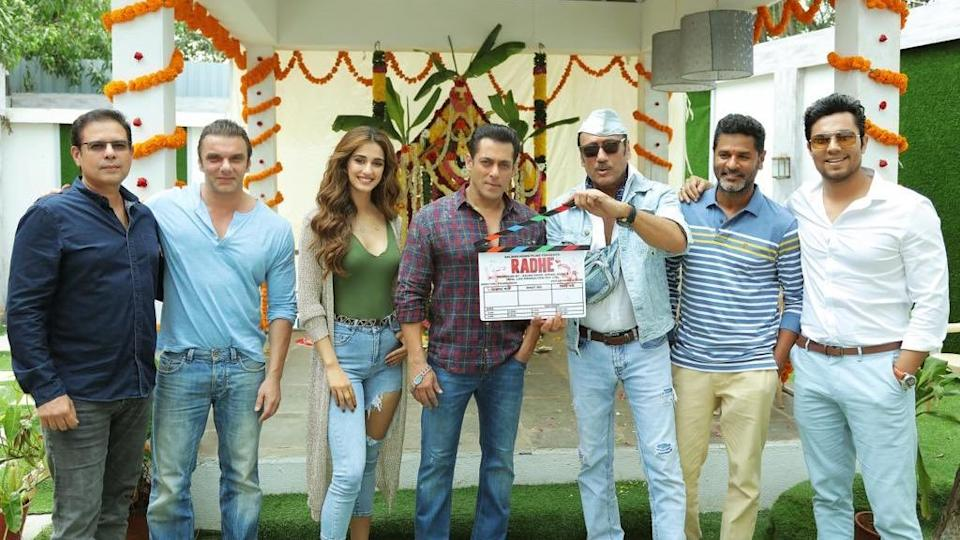Salman Khan and team start shooting for <i>Radhe: Your Most Wanted Bhai. </i>