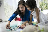 <p>Order a custom puzzle of a family photo that mom will cherish long after the last piece is put into place.</p>