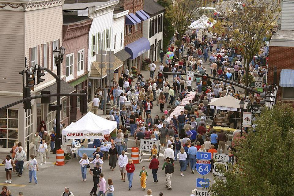 """<p>Historic downtown Lewisburg is a manageable-sized district of galleries, cafes, and, of course, antique shops. <a href=""""http://robertsantiqueswv.com/"""" rel=""""nofollow noopener"""" target=""""_blank"""" data-ylk=""""slk:Roberts Antiques"""" class=""""link rapid-noclick-resp"""">Roberts Antiques</a> combines all of the three, offering wine and gourmet food in addition to antiques.</p>"""