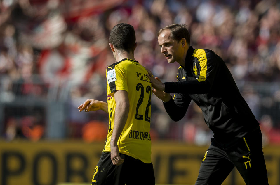 Thomas Tuchel is already familiar with Christian Pulisic, one of his best Chelsea players, from their time together at Borussia Dortmund. (Photo by Alexandre Simoes/Borussia Dortmund via Getty Images)
