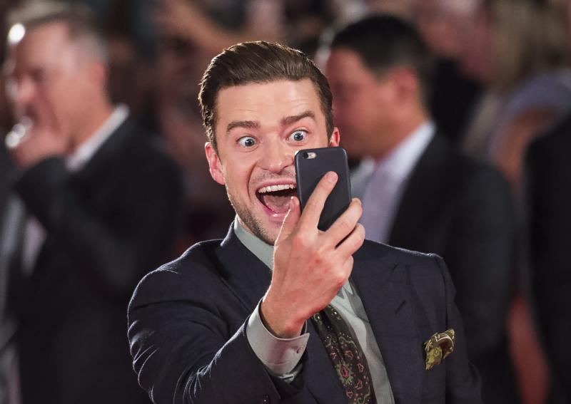 """Actor and singer Justin Timberlake arrives on the red carpet for the premiere of """"Justin Timberlake and The Tennessee Kids"""" during the 2016 Toronto International Film Festival in Toronto Tuesday, Sept. 13, 2016. (Nathan Denette/The Canadian Press via AP)"""