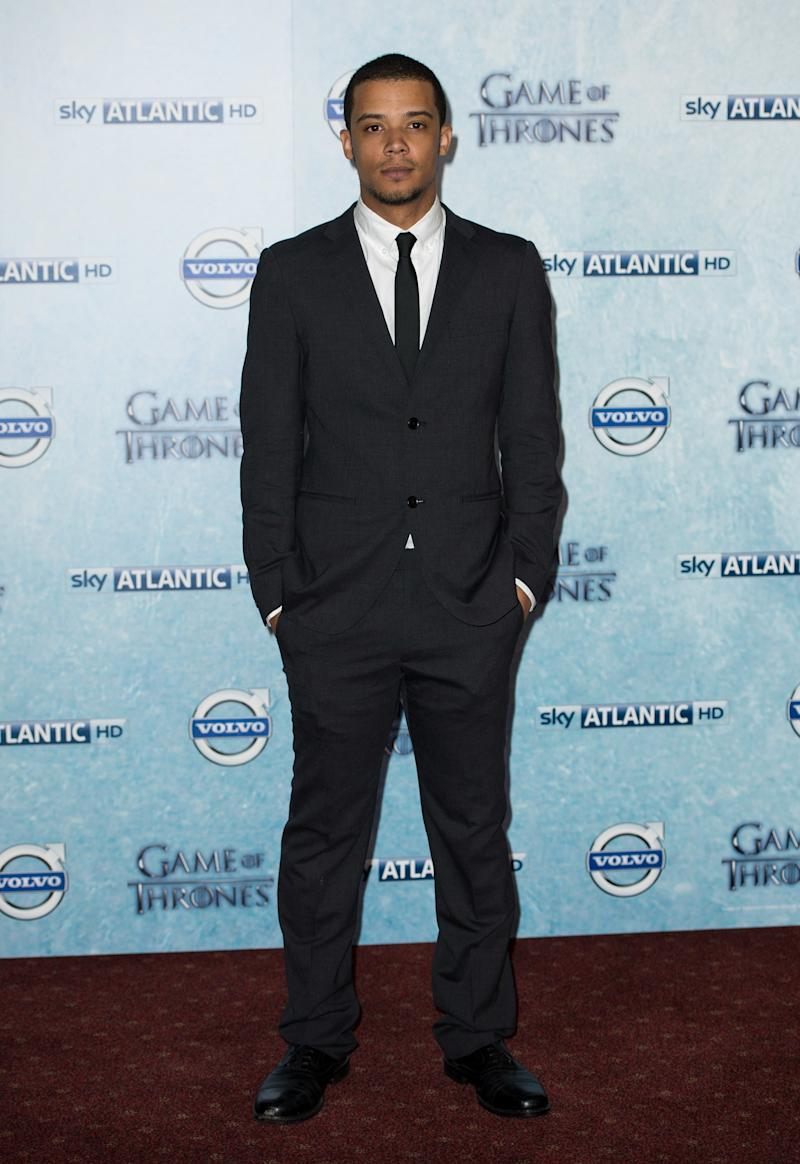 Jacob Anderson, who plays Greyworm, at the premiere of Game of Thrones season four in London, England, March 2014.