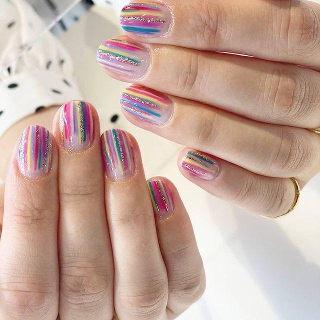 """<p>The glitter just adds a lil something more to this rainbow, does it?</p><p><a href=""""https://www.instagram.com/p/CFJj-mrHOlZ/"""" rel=""""nofollow noopener"""" target=""""_blank"""" data-ylk=""""slk:See the original post on Instagram"""" class=""""link rapid-noclick-resp"""">See the original post on Instagram</a></p>"""