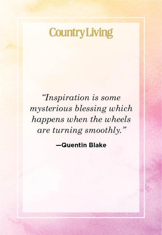 """<p>""""Inspiration is some mysterious blessing which happens when the wheels are turning smoothly.""""</p>"""