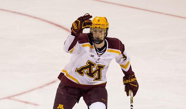 <p><strong>23. Minnesota</strong> <br>Top 2017-18 sport: men's gymnastics. Trajectory: Up. Gophers rose from 30th to 19th year-over-year, and did it without assistance from football, men's basketball or — believe it or not — men's hockey. Olympic sports are in good shape across the board at Minnesota. </p>