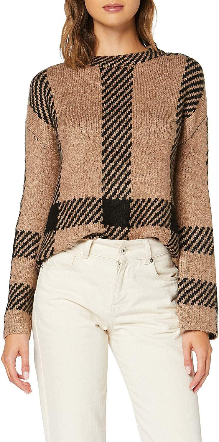 """<p>Stay warm in this <a href=""""https://www.popsugar.com/buy/Find-Loose-Fit-Pattern-Crewneck-Sweater-508962?p_name=Find%20Loose-Fit%20Pattern%20Crewneck%20Sweater&retailer=amazon.com&pid=508962&price=35&evar1=fab%3Aus&evar9=46859993&evar98=https%3A%2F%2Fwww.popsugar.com%2Ffashion%2Fphoto-gallery%2F46859993%2Fimage%2F46860016%2FFind-Loose-Fit-Pattern-Crewneck-Sweater&list1=shopping%2Camazon%2Choliday%2Cwinter%20fashion%2Choliday%20fashion%2C50%20under%20%2450%2Cgifts%20for%20women%2Caffordable%20shopping&prop13=mobile&pdata=1"""" rel=""""nofollow noopener"""" class=""""link rapid-noclick-resp"""" target=""""_blank"""" data-ylk=""""slk:Find Loose-Fit Pattern Crewneck Sweater"""">Find Loose-Fit Pattern Crewneck Sweater</a> ($35).</p>"""