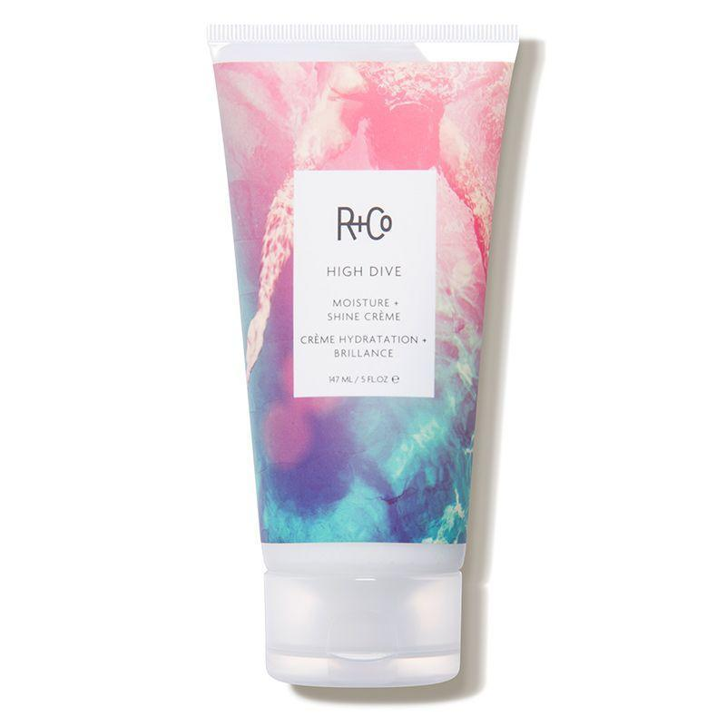 """<p><strong>R+Co</strong></p><p>dermstore.com</p><p><a href=""""https://go.redirectingat.com?id=74968X1596630&url=https%3A%2F%2Fwww.dermstore.com%2Fproduct_HIGH%2BDIVE%2BMoisture%2BShine%2BCreme_74497.htm&sref=https%3A%2F%2Fwww.cosmopolitan.com%2Fstyle-beauty%2Fbeauty%2Fg34249240%2Fdermstore-hair-sale-2020%2F"""" rel=""""nofollow noopener"""" target=""""_blank"""" data-ylk=""""slk:Shop Now"""" class=""""link rapid-noclick-resp"""">Shop Now</a></p><p><strong><del>$29</del> $23 (20% off)</strong></p><p>Suitable for all hair types, High Dive is a hair cream that adds shine and moisture, while fighting against frizz. Simply run a small amount of this hair cream through towel-dried hair before styling or air drying to enjoy shinier, less frizzy hair. <br></p>"""