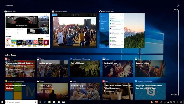 Windows 10 will now let help you find and open apps you previously closed.