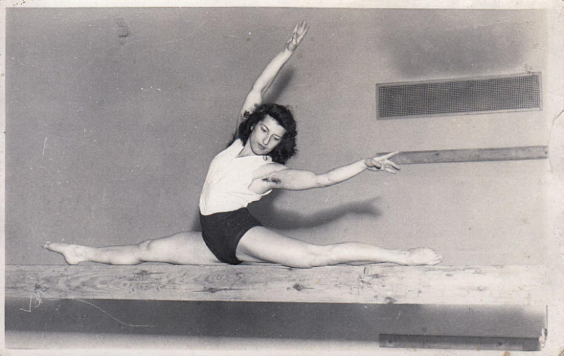 An undated family handout photo of Agnes Keleti. She won 10 medals in gymnastics €