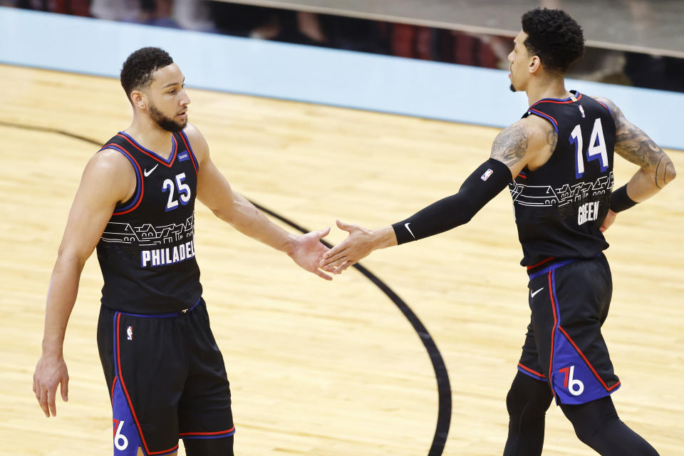 Danny Green and Ben Simmons.