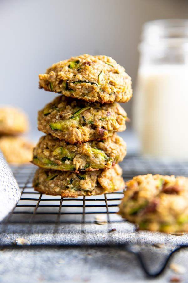 """<p>These healthy cookies are a fun way to add more veggies into your diet. The shredded zucchini and unsweetened applesauce make them super moist—just like zucchini bread. </p><p><strong>Get the recipe at <a href=""""https://www.wholesomerecipebox.com/zucchini-oatmeal-breakfast-cookies/"""" rel=""""nofollow noopener"""" target=""""_blank"""" data-ylk=""""slk:Wholesome Recipe Box"""" class=""""link rapid-noclick-resp"""">Wholesome Recipe Box</a>. </strong></p>"""