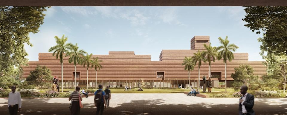 A rendering of the planned Edo Museum of West African Art in Benin City by architect David Adjaye.