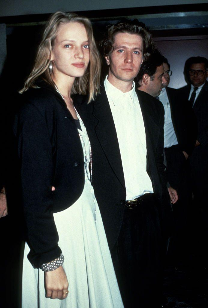 <p>The<em> Kill Bill</em> badass married Gary, who is 12 years her senior, back in 1990. They divorced two years later, and Gary is now on wife number five, Gisele Schmidt. Uma wed Ethan Hawke in 1998, but they split in 2005.</p>