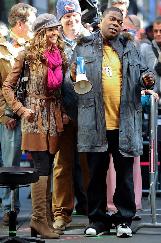 """Looks like we just figured out who one of next season's """"30 Rock"""" guest stars is going to be! Denise Richards joined Tracy Morgan on set in New York on Wednesday to shoot a scene for the NBC sitcom, which will premiere its sixth season in January. (10/19/2011)"""