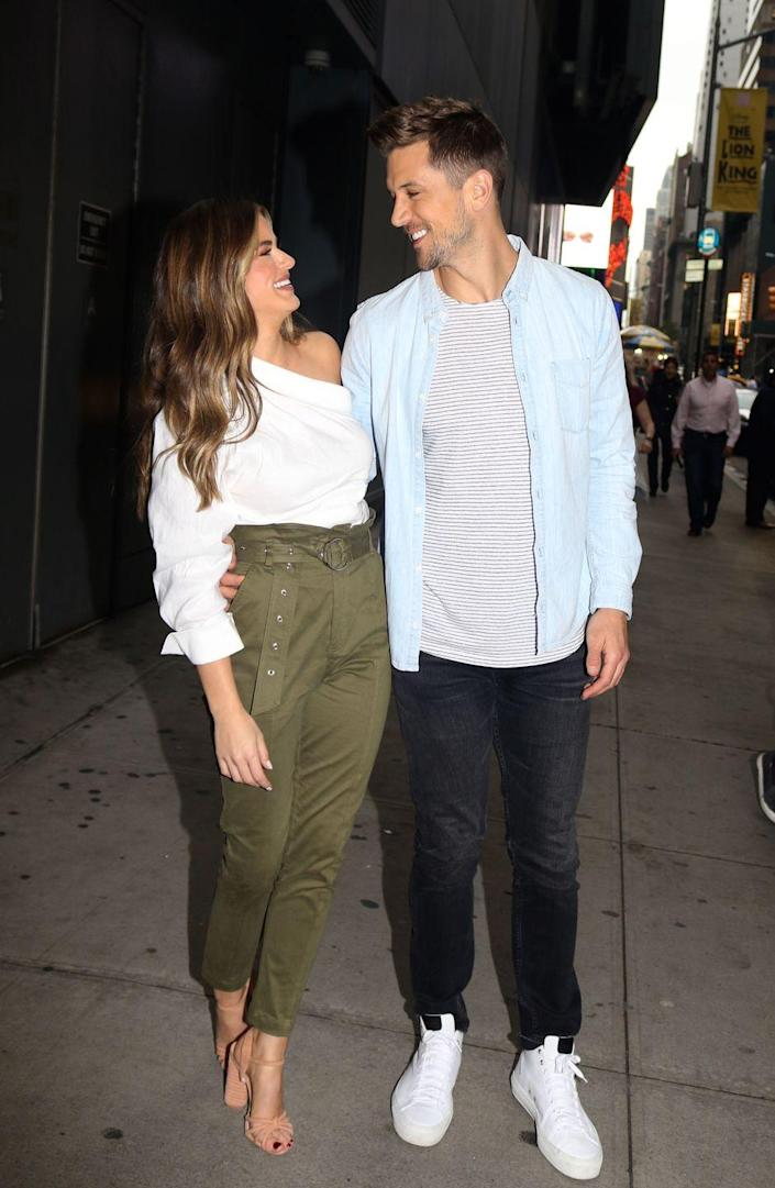 """<p>JoJo Fletcher and Jordan Rodgers fell hard for each other during season 12 of <em>The Bachelorette. </em>JoJo offered Jordan her final rose and accepted his proposal during the finale.</p><p>They've delayed setting a wedding date. In the meantime, JoJordan co-host a Youtube series about their relationship and multiple reality shows, including <em>Cash Pad</em> on CNBC and <em>Battle of the Fittest Couples</em> on Paramount, per <a href=""""https://www.imdb.com/name/nm7780322/?ref_=fn_al_nm_1"""" rel=""""nofollow noopener"""" target=""""_blank"""" data-ylk=""""slk:IMDB"""" class=""""link rapid-noclick-resp"""">IMDB</a>.</p><p>""""We're really happy and enjoying our engagement and our life has been—and continues to get—so much busier and crazy,"""" JoJo told <a href=""""https://www.usmagazine.com/stylish/news/jojo-fletcher-on-her-wedding-dress-new-line-shop-fletch/"""" rel=""""nofollow noopener"""" target=""""_blank"""" data-ylk=""""slk:Us Weekly"""" class=""""link rapid-noclick-resp""""><em>Us Weekly</em></a>. """"And there's just gonna be that moment where we look at each other and we're like, <em>'Okay...let's do this, it's time.'</em>""""</p><p>One ring wasn't enough, though. Jordan re-proposed in August 2019 with a new sparkler. JoJo shared the news in an <a href=""""https://www.instagram.com/p/B1nFKq4gCAu/"""" rel=""""nofollow noopener"""" target=""""_blank"""" data-ylk=""""slk:Instagram"""" class=""""link rapid-noclick-resp"""">Instagram</a> post: """"I can't wait to marry you!""""</p>"""