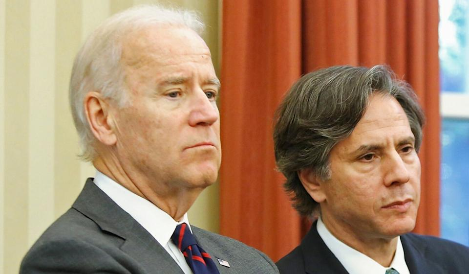 Joe Biden and Antony Blinken at the White House in 2013, when Biden was vice-president and Blinken national security adviser. Photo: Reuters