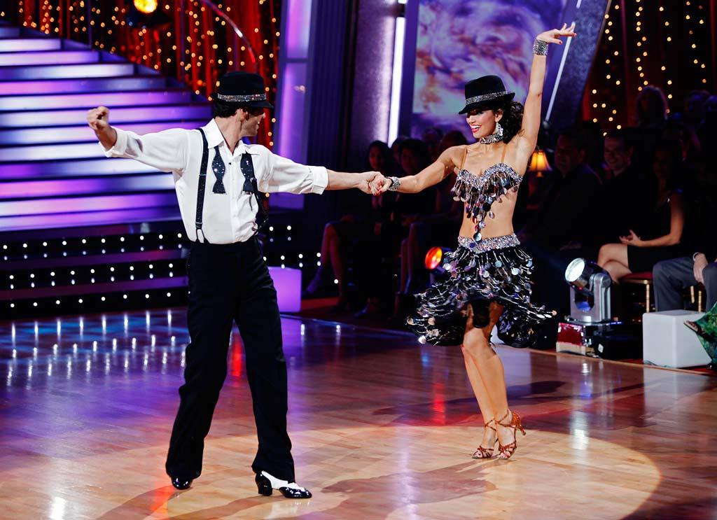 """Melissa Rycroft and Tony Dovolani perform the Cha-Cha-Cha to """"Save the Last Dance for Me"""" by Michael Bublé on """"Dancing with the Stars."""""""