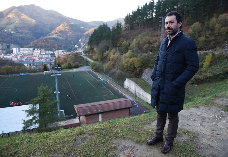 Eibar's former president Alex Aranzabal spearheaded a crowd-funding campaign that raised the funds to keep the club in top-flight football (AFP Photo/ANDER GILLENEA)