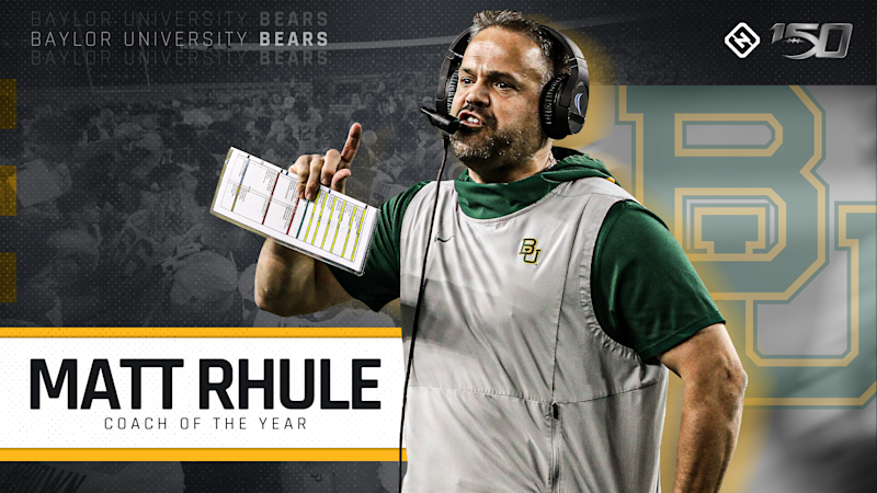 Baylor's Matt Rhule is Sporting News' 2019 Coach of the Year