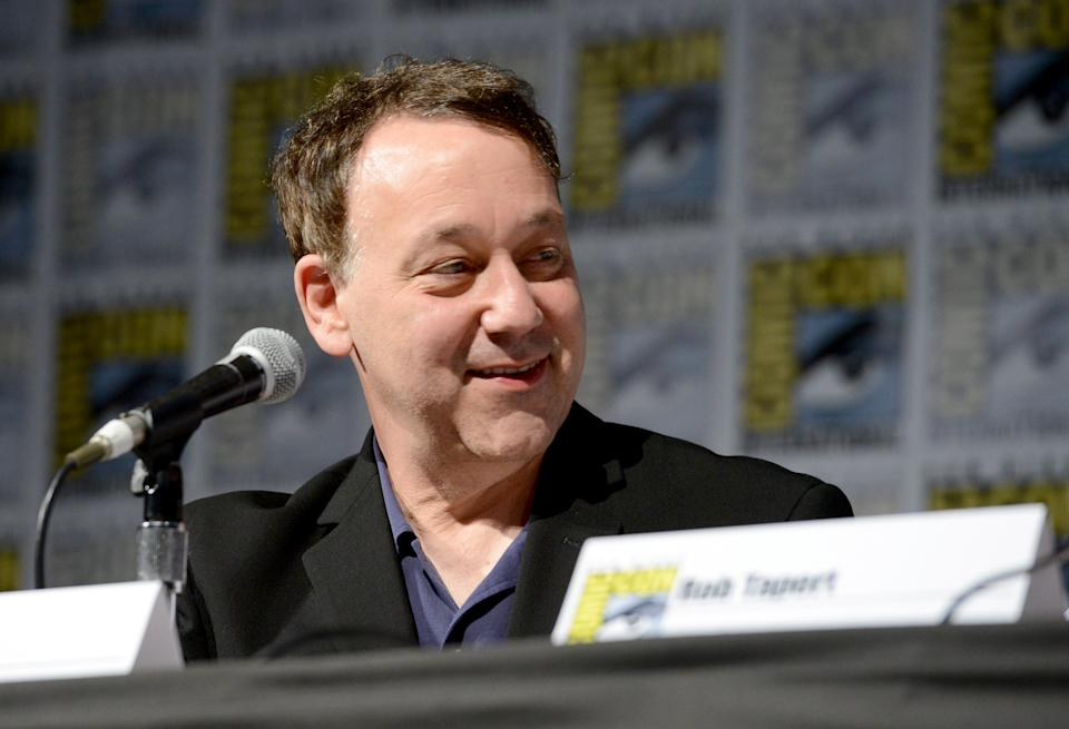 """SAN DIEGO, CA - JULY 23:  Director Sam Raimi speaks on stage during the """"Ash vs Evil Dead""""  panel during Comic-Con International at the San Diego Convention Center on July 23, 2016 in San Diego, California.  (Photo by Michael Kovac/Getty Images for STARZ)"""