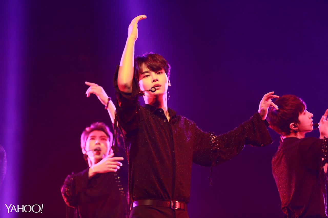 <p>N, the leader of VIXX, performing at the concert (Photo: Yahoo Lifestyle Singapore)</p>
