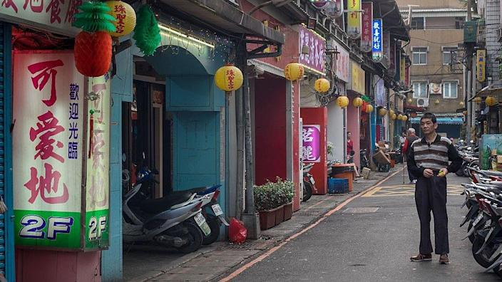Old red light district in Wuan Hua area