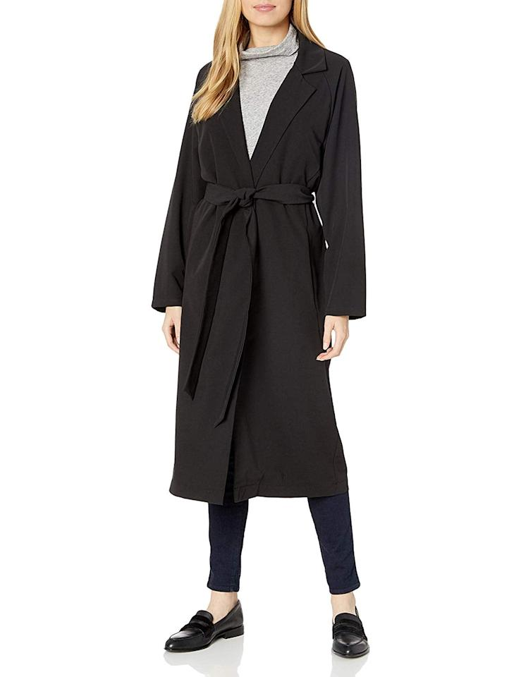 """<p>I have been in search for a classic black jacket and this <a href=""""https://www.popsugar.com/buy/AMIE-New-York-Soft-Lightweight-Trench-Duster-Coat-536422?p_name=AMIE%20New%20York%20Soft%20Lightweight%20Trench%20Duster%20Coat&retailer=amazon.com&pid=536422&price=168&evar1=fab%3Aus&evar9=47060305&evar98=https%3A%2F%2Fwww.popsugar.com%2Ffashion%2Fphoto-gallery%2F47060305%2Fimage%2F47060759%2FAMIE-New-York-Soft-Lightweight-Trench-Duster-Coat&list1=shopping%2Camazon%2Ceditors%20pick%2Cwinter%20fashion&prop13=mobile&pdata=1"""" rel=""""nofollow"""" data-shoppable-link=""""1"""" target=""""_blank"""" class=""""ga-track"""" data-ga-category=""""Related"""" data-ga-label=""""https://www.amazon.com/AMIE-New-York-Lightweight-Relaxed/dp/B07TTF5S8F/ref=sr_1_238?dchild=1&amp;qid=1577988569&amp;s=apparel&amp;sr=1-238"""" data-ga-action=""""In-Line Links"""">AMIE New York Soft Lightweight Trench Duster Coat</a> ($168) fits the bill. Its timeless silhouette will stay in style for years.</p>"""