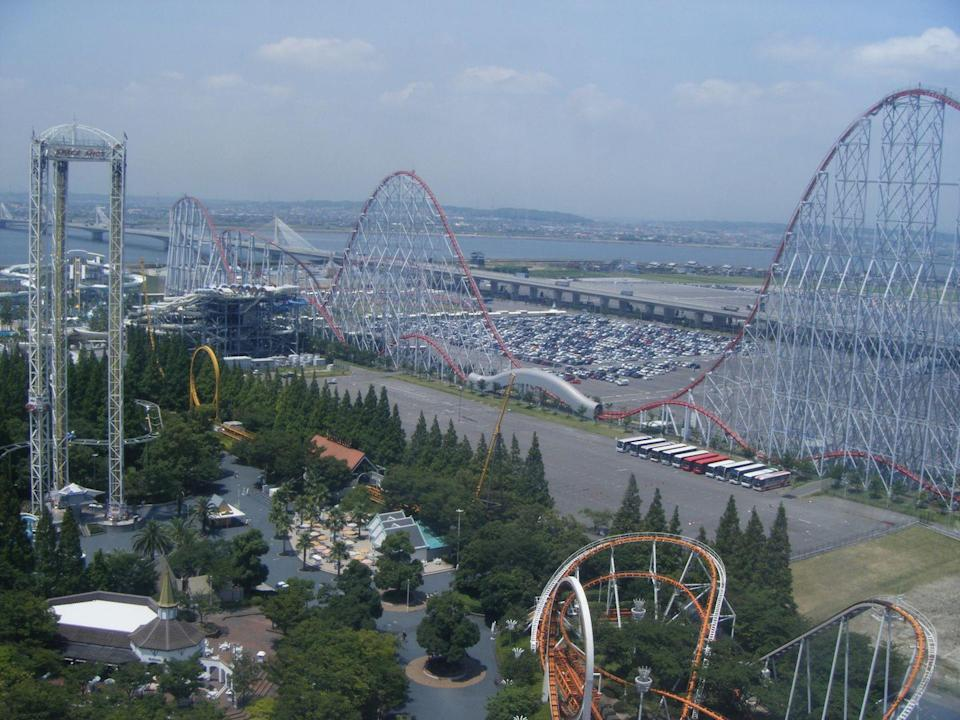 """<p>For <a href=""""https://www.nagashima-onsen.co.jp/"""" rel=""""nofollow noopener"""" target=""""_blank"""" data-ylk=""""slk:Nagashima Spa Land"""" class=""""link rapid-noclick-resp"""">Nagashima Spa Land</a>'s Steel Dragon coaster, you're going to need some stamina: It's the longest roller coaster in the world, with a length of more than 8,133 feet. And yet, it still takes only four minutes to ride (that's 95 mph for those doing the math).</p>"""