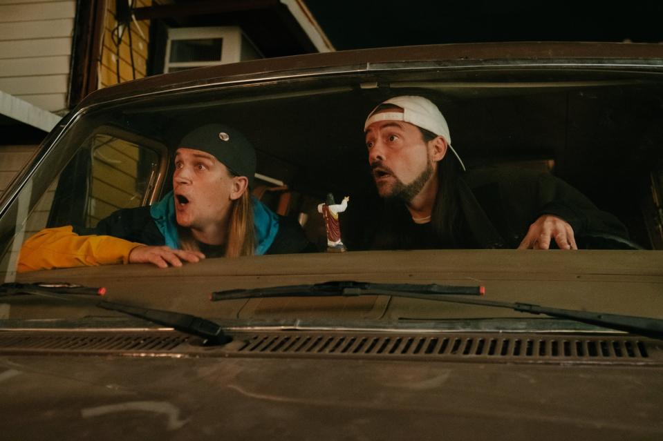Jason Mewes and Kevin Smith Jay and Silent Bob Reboot. (Universal Pictures)