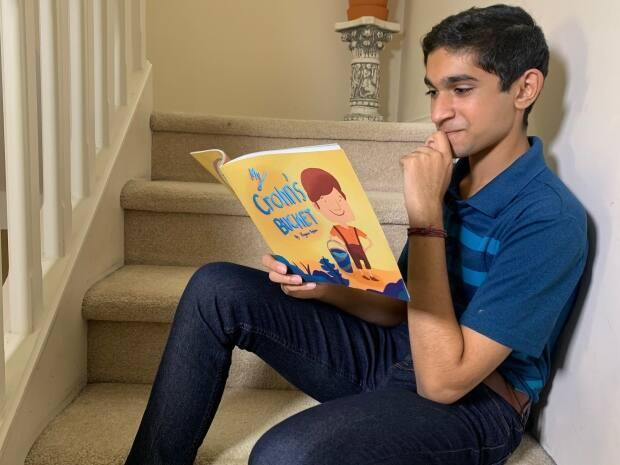 Keyaan Vegdani wrote, illustrated, and published a book about Crohn's disease to help raise funds for thousands of others living with the chronic illness in Canada. (Zahra Premji / CBC News - image credit)