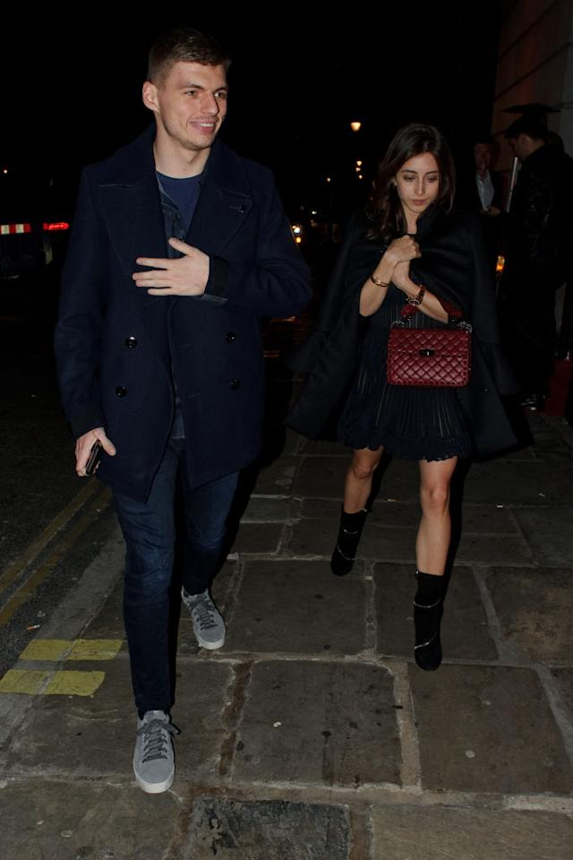 Max Verstappen and student Dilara Sanlik share a very private life out of the social media's eyes. They were last seen in public leaving the Bloomsbury Hall on February 21, 2019 in London, England. (Photo by GORC/GC Images)