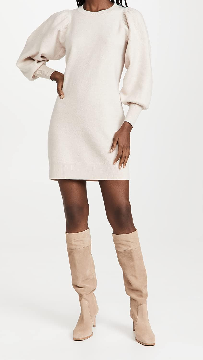<p>We love the exaggerated sleeves on this <span>Ulla Johnson Viviana Dress</span> ($495). Plus, it looks great with tall, knee high boots.</p>