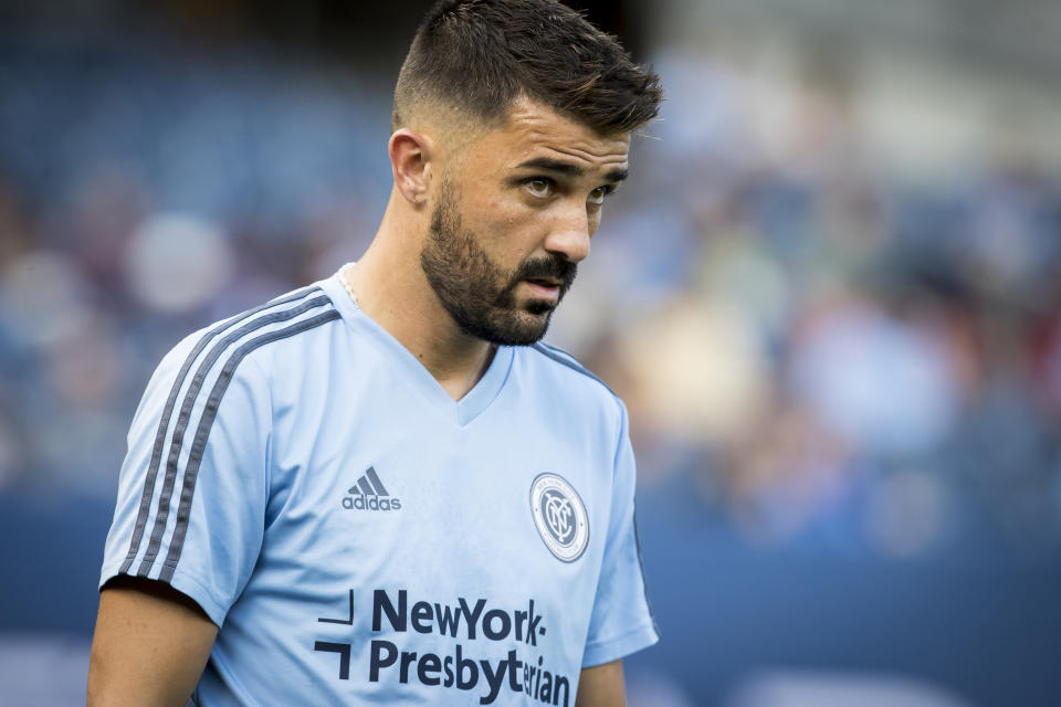 David Villa brought respect and attention to NYCFC and MLS. He also allegedly sexually harassed former intern Skyler Badillo. (Photo by Ira L. Black/Corbis via Getty Images)