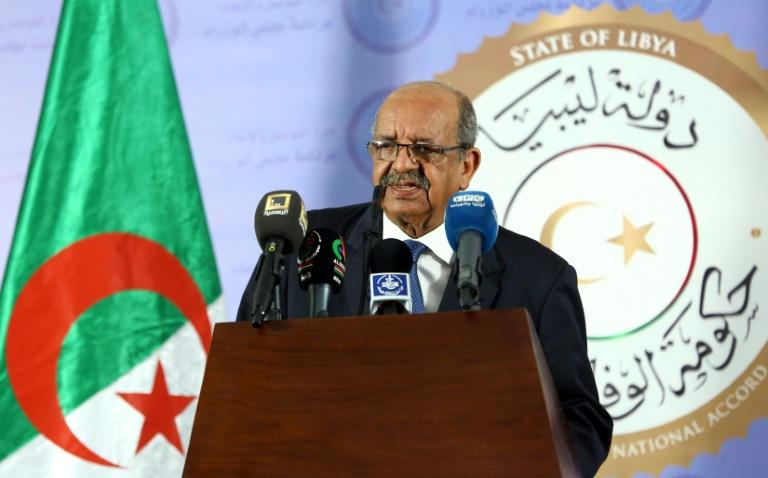 "Algerian Foreign Minister Abdelkader Messahel, seen here in Libya on April 21, 2017, has triggered a diplomatic row with neighbouring Morocco by accusing the kingdom's banks of ""laundering hashish money"""